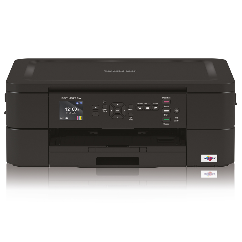 Dcp-j572dw - Colour Multi Function Printer - Inject - A4 - USB / Ethernet / Wi-Fi