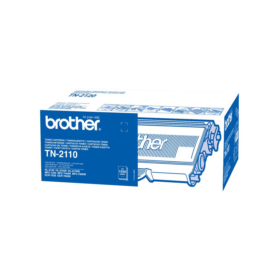 Brother TN-2110 cartucho de tóner Original Negro 1 pieza(s)