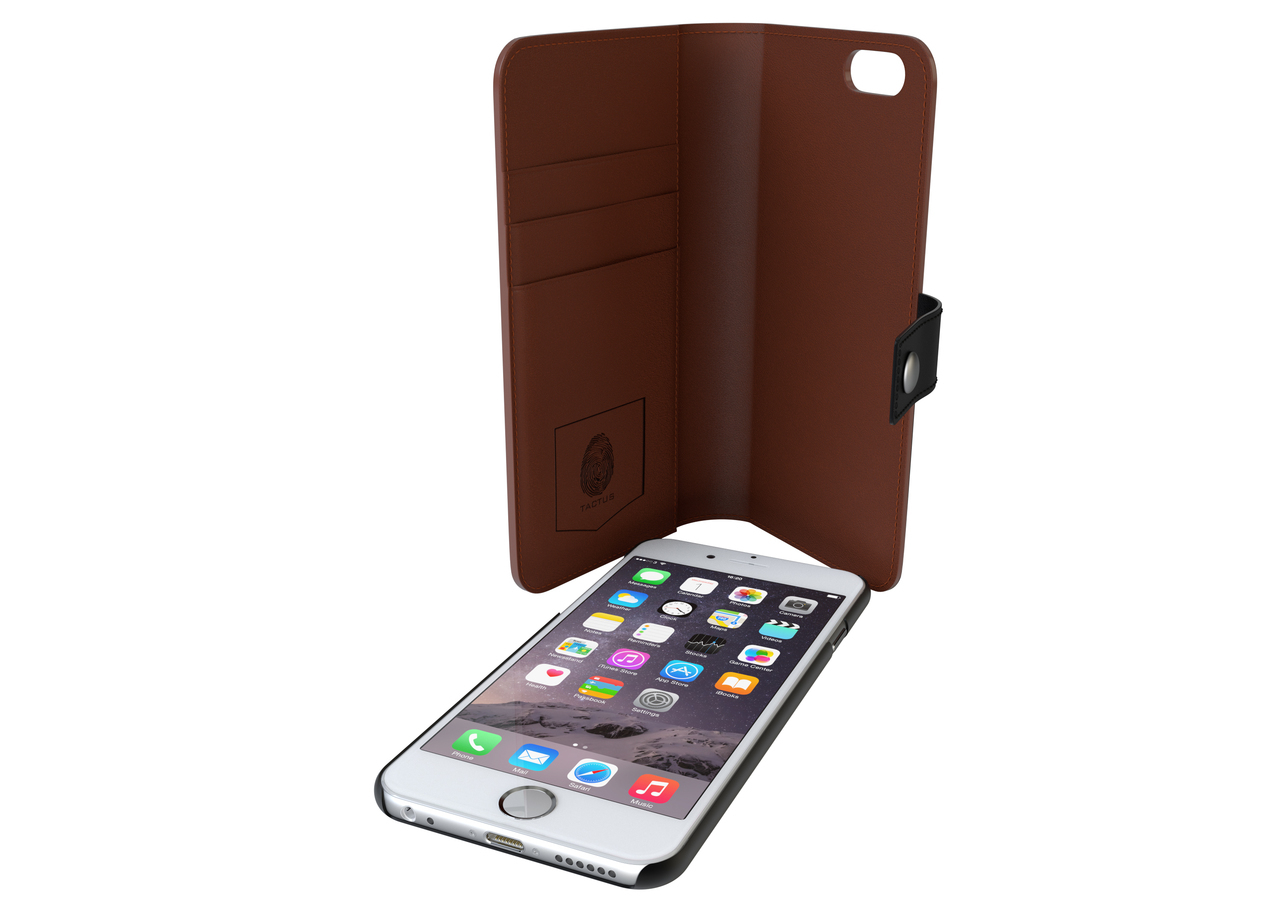 "Tactus OW001 Wallet Black,Tan 4.7"" mobile phone case"