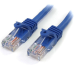 StarTech.com Cable de 2m Azul de Red Fast Ethernet Cat5e RJ45 sin Enganche - Cable Patch Snagless