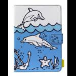 """Tech air TAUKT008 tablet case 20.3 cm (8"""") Folio Blue, Multicolor, White"""