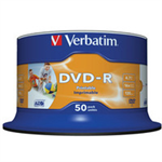 Verbatim DVD-R 4.7GB 16x 50 Pack Spindle Wide Printable 43533
