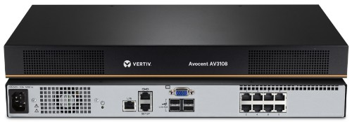 Vertiv Avocent AV 3108 KVM switch Rack mounting Black