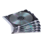 Fellowes NEATO Slim Jewel Cases - 100 pack 100 discs Black
