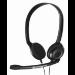 Sennheiser PC 3 Chat auricular con micrófono Diadema Binaural Negro