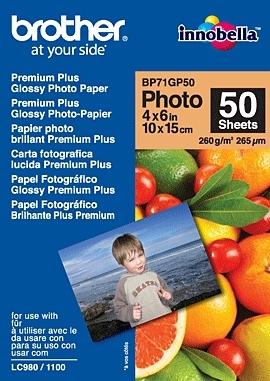 Brother BP71GP50 Premium Glossy Photo Paper papel fotográfico Blanco