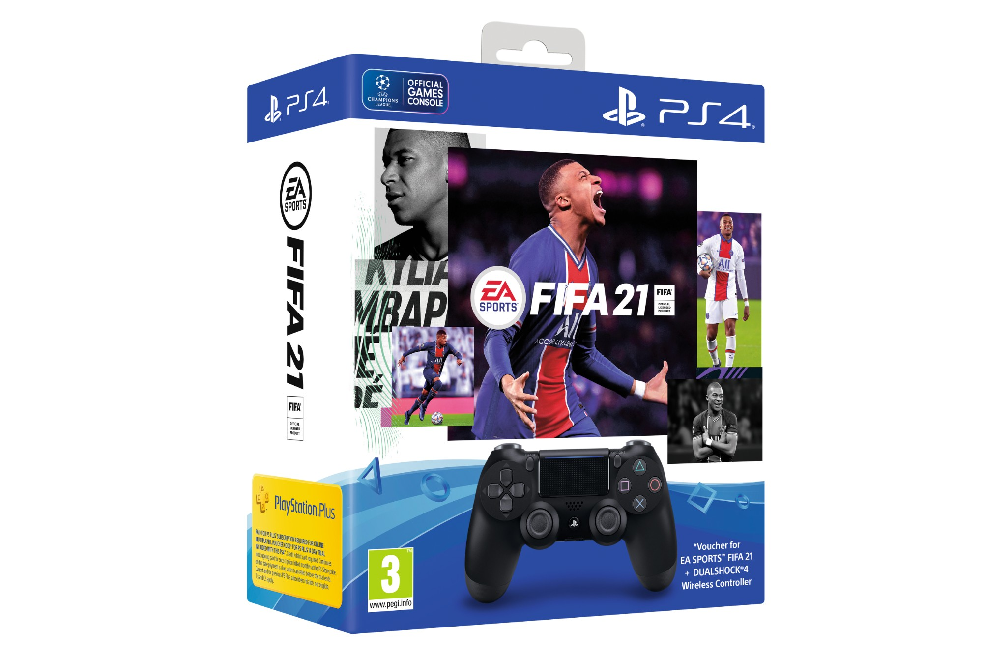 Sony PS4 DualShock Controller with FIFA 2021 Digital Download - Black