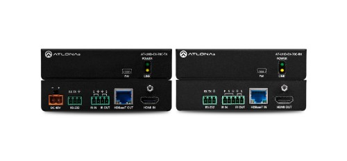 Atlona AT-UHD-EX-70C-KIT AV transmitter & receiver Black