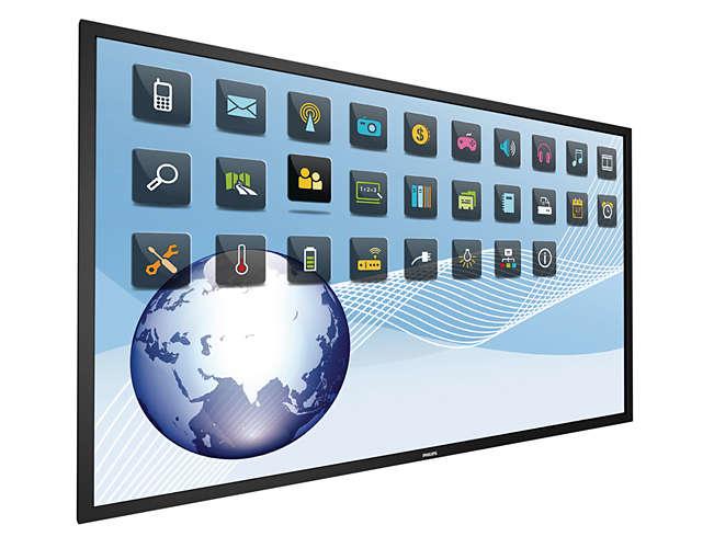 "Philips Signage Solutions BDL8470QT/00 Digital signage flat panel 84"" LED 4K Ultra HD Black signage display"