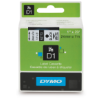 DYMO D1 Label Cassette, 24mm x 7m - Black on White