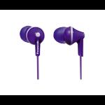 Panasonic RP-HJE125PP Dentro de oído Biauricular Púrpura auricular para móvil