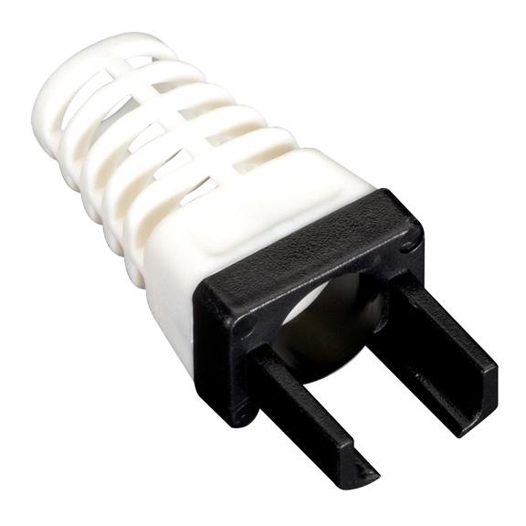 Black Box C6EZ-BOOT-BK cable boot Black, White 25 pc(s)