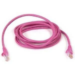 """Belkin Cat. 6 Patch Cable 5ft Pink networking cable 59.1"""" (1.5 m)"""