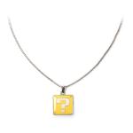Nintendo Super Mario Bros. Question Mark Box Metal Curb Chain Pendant Necklace, One Size, Multi-colour (JE180