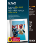 Epson Premium Semi-Gloss Photo Paper - A4 - 20 Vellen
