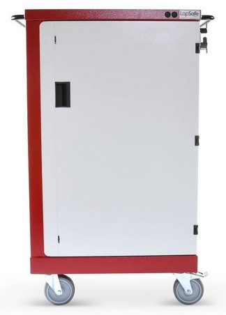 LapSafe Mini Mentor Portable device management cart Red,White