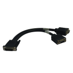 Tripp Lite DMS-59 to Dual VGA Splitter Y Cable (M to 2xF), 0.31 m (1-ft.)