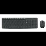 Logitech MK235 RF Wireless QWERTY Grey
