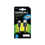 Duracell USB5012A mobile phone cable USB Lightning Black 1 m