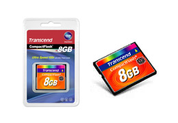 8GB Compact Flash Card 133x (max Data Transfer Rate 20mb/sec)