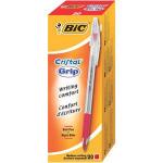 BIC Cristal Grip Stick ballpoint pen Medium Red 20pc(s)