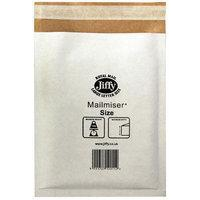 Jiffy Riggikraft Mailmiser Protective Envelopes Bubble-lined No 00 White 115x195mm Ref JMM-WH-00 [Pa