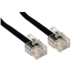 Cables Direct RJ-11, 3m telephony cable Black