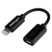 StarTech.com Black Micro USB to Apple 8-pin Lightning Connector Adapter for iPhone / iPod / iPad USBUBLTB
