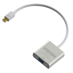 Vision TC-MDPVGA video cable adapter 0,220 m Mini DisplayPort VGA (D-Sub) Weiß