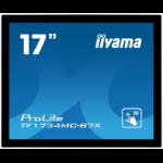 "iiyama ProLite TF1734MC-B7X touch screen monitor 43.2 cm (17"") 1280 x 1024 pixels Multi-touch Black"