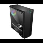 MSI MPG GUNGNIR 100 Mid Tower Gaming Computer Case 'Black, 1x 120mm ARGB + 3x 120mm Fan, Mystic Light Sync, 8 Channel ARGB Hub, Tempered Glass Panels, E-ATX, ATX, mATX, mini-ITX'