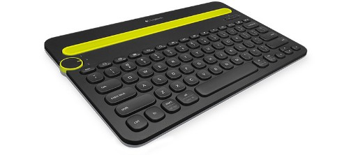 Logitech K480 mobile device keyboard Black,Yellow QWERTY UK English Bluetooth