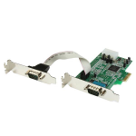 StarTech.com 2 Port Low Profile Native RS232 PCI Express Serial Card with 16550 UART interface cards/adapter
