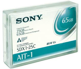 Ait 8mm Data Cartridge Sdx-125c Ait-1 25/50GB 170m With Mic