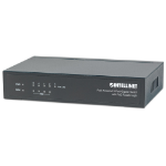 Intellinet PoE-Powered 5-Port Gigabit Switch with PoE Passthrough, 4 x PSE PoE ports, 1 x PD PoE port, IEEE 802.3at/af Power-over-Ethernet (PoE+/PoE), IEEE 802.3az Energy Efficient Ethernet, Desktop (UK 3-pin plug)