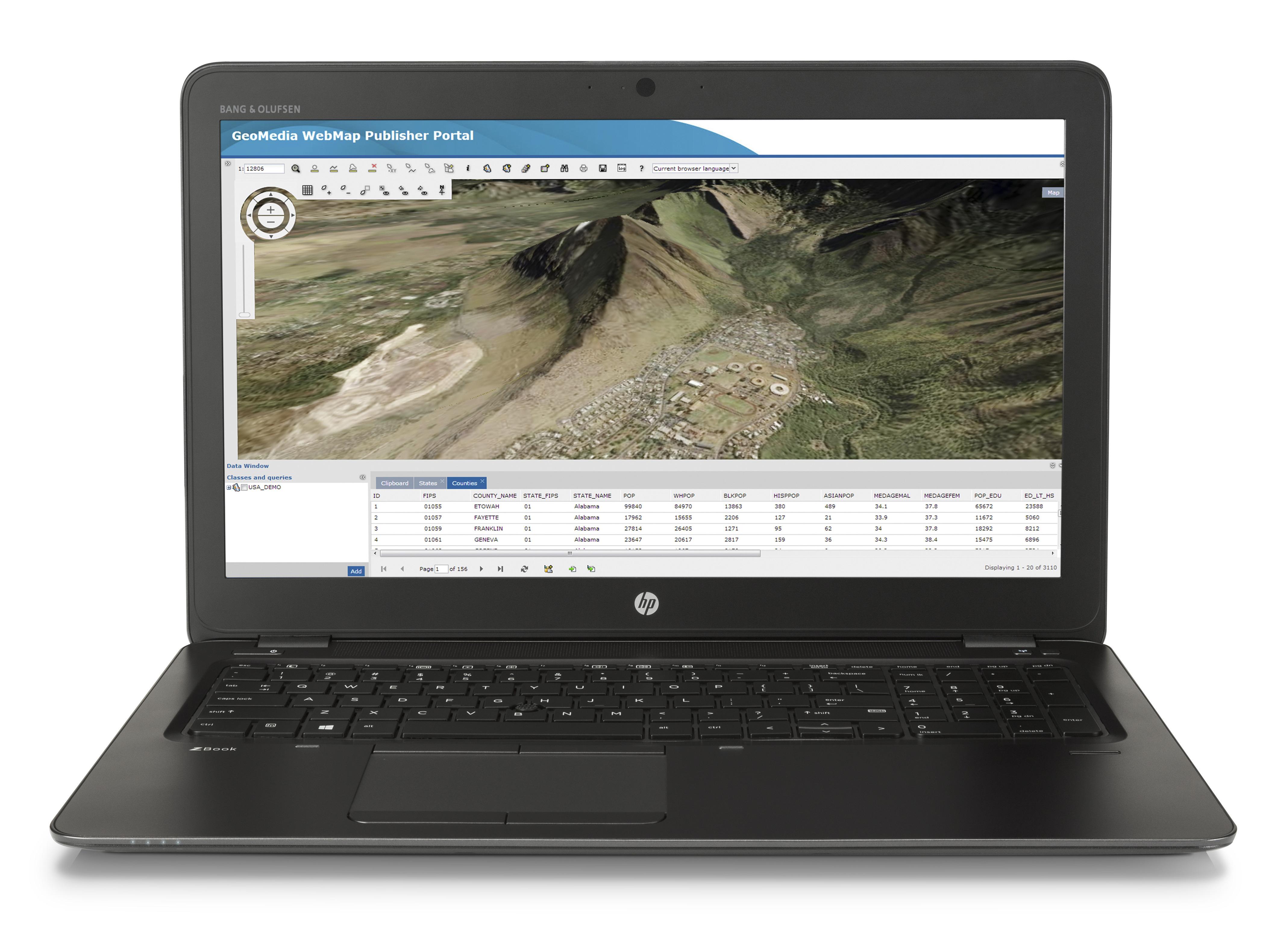 """HP ZBook 15u G3 2.5GHz i7-6500U 15.6"""" 1920 x 1080pixels Black"""