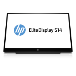 "HP EliteDisplay S14 LED display 35.6 cm (14"") Full HD Flat Matt Black"