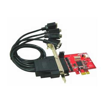 Rs232 Low Profile Pci-e Host Adapter 4-ports With 5v Dc Outpu