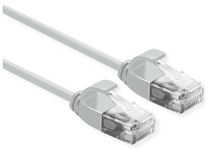 ROLINE 21.15.3901 networking cable 0.3 m Cat6a U/UTP (UTP) Grey