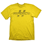 BORDERLANDS Men's Hyperion Logo T-Shirt, Extra Extra Large, Yellow (GE1809XXL)