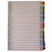 White Box WB MYLAR INDEX A4 A-Z MULTI