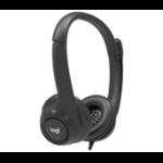 Logitech 991-000267 headphones/headset Kopfhörer Kopfband Schwarz