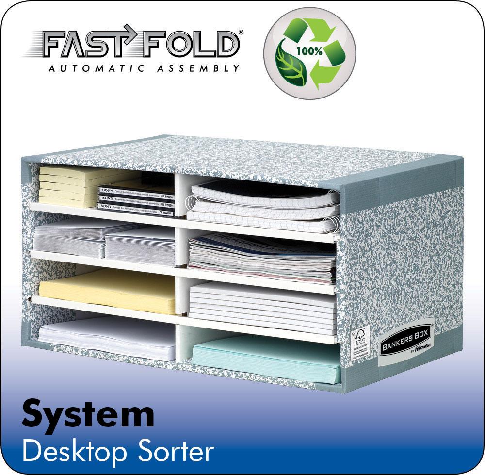 Fellowes Bankers Box System Desktop Sorter Board Grey (Pack 5)