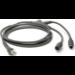 Zebra CBA-K61-S07PAR 2m Grey PS/2 cable