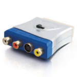 C2G 80435 SCART S-Video, Composite Video / L/R Stereo Silver cable interface/gender adapter