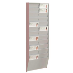 Fast Paper 24 Compartment ID Badge Rack Grey DD