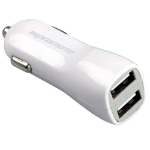 Promate Vivid 3100mA Dual USB Universal Car Charger with 2 USB Ports - WHITE