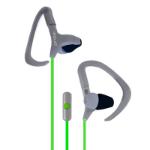 Ginga GI16AUD02HF Gancho de oreja Biauricular Alámbrico Verde, Gris auricular para móvil