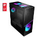 MSI MPG SEKIRA 500X Full Tower Gaming Computer Case 'Black, 3x 200mm ARGB + 1x 200mm + 1x120mm ARGB Fans, Mystic Light Sync, 8 Channel ARGB Hub, USB Type-C, Tempered Glass Panels, E-ATX, ATX, mATX, mini-ITX'