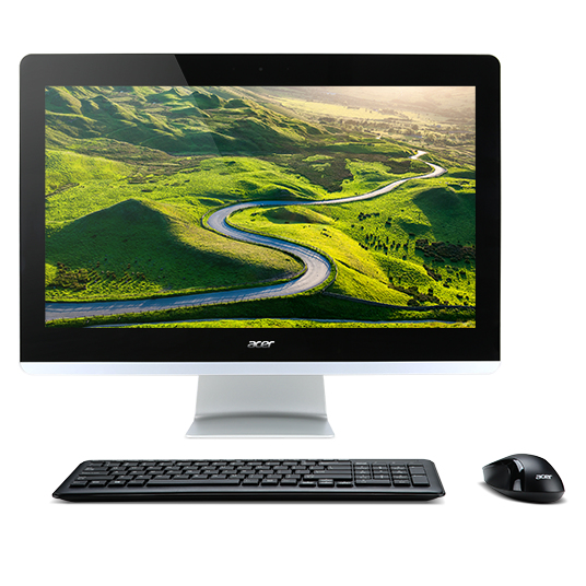 "Acer Aspire Z22-780 3.4GHz i3-7100T 21.5"" 1920 x 1080pixels Black,Silver All-in-One PC"